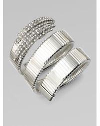 Ca&Lou | Metallic Snake Pave Crystal Coil Bracelet | Lyst