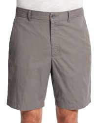Perry Ellis | Gray Oxford Cotton Shorts for Men | Lyst