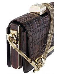 Azzaro | Black Vendôme Chaine Quilted Shoulder Clutch | Lyst