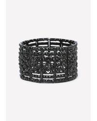 Bebe - Black Crystal Bracelet - Lyst