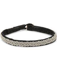 Maria Rudman | Black Pewter Thin Woven Bracelet | Lyst