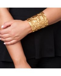 Ben-Amun | Metallic Foiled Gold Cuff | Lyst