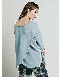 Free People | Blue Womens In The Yard Pullover | Lyst