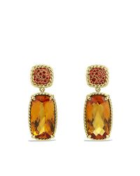 David Yurman - Chatelaine Drop Earrings With Madeira Citrine, And Orange Sapphires In 18k Gold - Lyst