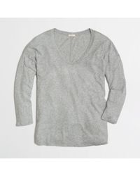 J.Crew | Gray Factory Longsleeve Draped Swing Tee | Lyst