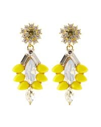 Coast | Yellow Sparkle Earring | Lyst