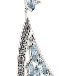 Shaun Leane - Blue Diamond, Aquamarine & White-Gold Earrings - Lyst