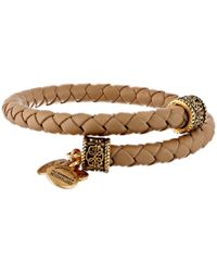 ALEX AND ANI - Natural Indie Spirit Braided Leather Wrap Bracelet - Lyst