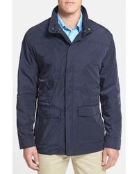 Cutter & Buck   Blue 'weathertec Birch Bay' Water Resistant Jacket for Men   Lyst