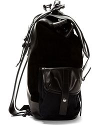 Damir Doma - Black Leather And Suede Rucksack for Men - Lyst