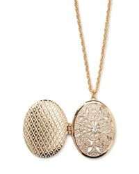 Forever 21 - Metallic Filigree Locket Necklace - Lyst