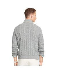Polo Ralph Lauren - Gray Tussah Silk Half-zip Sweater for Men - Lyst