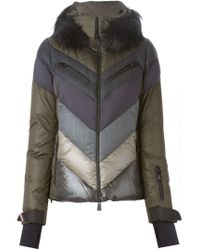 Moncler Grenoble - Multicolor Hooded Quilted Jacket - Lyst