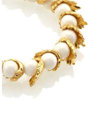 Estelle Dévé | Metallic Gold Ivory Hummingbird Bracelet | Lyst