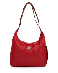 Longchamp | Red Hobo - Le Pliage | Lyst