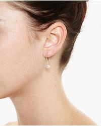Asherali Knopfer - Pink Louka Gold Hoop Earring - Lyst