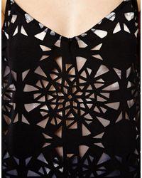 ASOS - Black Cami Top In Cutwork - Lyst