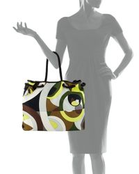 Emilio Pucci - Brown Kaleidoscope-Print Large Canvas Bag - Lyst