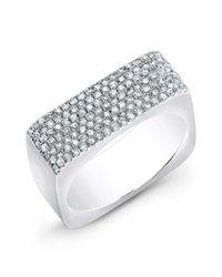 Anne Sisteron - Metallic 14kt White Gold Diamond Brick Ring - Lyst