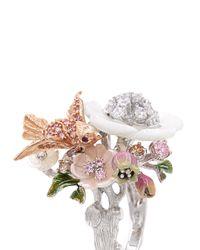 Anabela Chan   Pink 'swallow' 18k Rose Gold Diamond Pavé Ring   Lyst