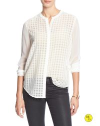 Banana Republic | White Factory Sheer Layering Blouse | Lyst