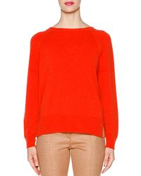 Piazza Sempione - Orange Cashmere Round-neck Sweater - Lyst