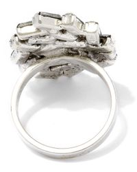 DANNIJO | Metallic Oxidised Silver Opal Swarovski Ring | Lyst
