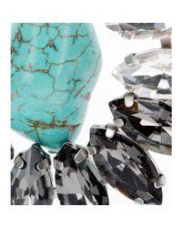 By Malene Birger - Blue Braicca Crystalembellished Turquoise Clipon Earrings - Lyst