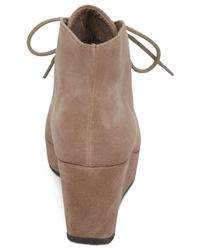 BCBGeneration | Natural Kenan Lace-up Wedge Platform Booties | Lyst