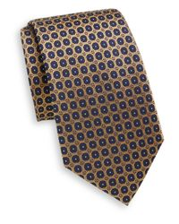 Saint Laurent | Blue Circle Dot Silk Tie for Men | Lyst