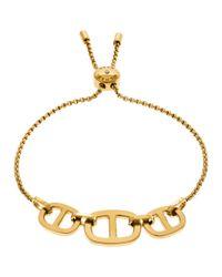 Michael Kors | Metallic Gold Toned Maritime Slider Bracelet | Lyst