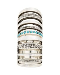 Pamela Love - Blue Double Cage Ring - Lyst