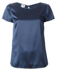 Armani - Blue Short Sleeve Blouse - Lyst