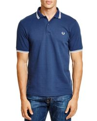 Fred Perry - Blue Tipped Slim Fit Polo for Men - Lyst