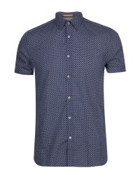 Ted Baker | Blue Paletwo Pattern Short Sleeve Shirt for Men | Lyst