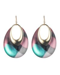 Alexis Bittar - Multicolor Orbital Print Hoop Dangle Wire Earring - Lyst