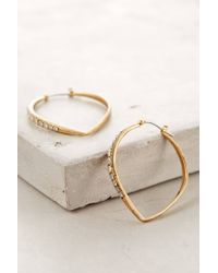 Anthropologie - Metallic Arabesque Hoops - Lyst