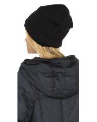 Canada Goose - Black Merino Wool Beanie - Graphite - Lyst