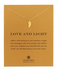 Dogeared - Metallic Love And Light Angel Wing Pendant Necklace - Lyst