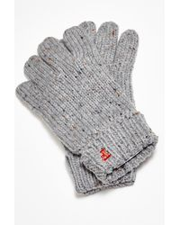 French Connection | Gray Pierre Fleck Gloves for Men | Lyst