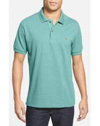 Lacoste | Blue 'l1212' Pique Polo for Men | Lyst