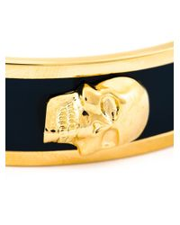 Alexander McQueen | Metallic Enamel Skull Bracelet | Lyst
