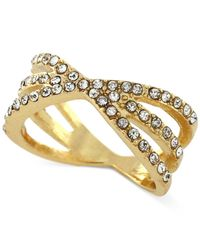 BCBGeneration | Metallic Gold-tone Crystal Stack Ring | Lyst