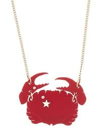 Tatty Devine | Red Cancer Birthday Necklace | Lyst