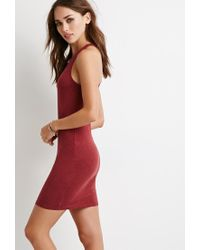 Forever 21 | Purple Racerback Bodycon Dress You've Been Added To The Waitlist | Lyst