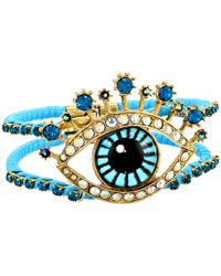 Betsey Johnson | Multicolor Critter Statement Tonal Eye Hinged Bangle Bracelet | Lyst