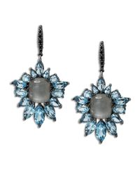 Stephen Dweck | Metallic Blue Quartz Fan Drop Earrings | Lyst