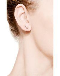 Sophie Bille Brahe - Metallic Flacon Diamant Earring For The Left Ear - Lyst