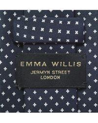 Emma Willis | Blue Printed Silk Tie for Men | Lyst