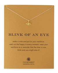 Dogeared - Metallic Blink Of An Eye Gold-dipped Pendant Necklace - Lyst